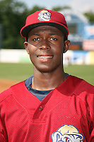 June 24, 2009:  Lurvin Basabe of the Mahoning Valley Scrappers during a game at Eastwood Field in Niles, OH.  The Scrappers are the NY-Penn League Short-Season Single-A affiliate of the Cleveland Indians.  Photo by:  Mike Janes/Four Seam Images