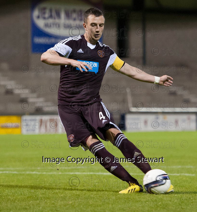 Hearts' Danny Wilson misses his penalty.