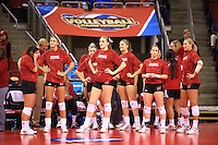 Wisconsin women's Volleyball defeat #1 Texas in the Semi Final Round of the 2013 NCAA National Championship. Seattle, WA. December 19, 2013