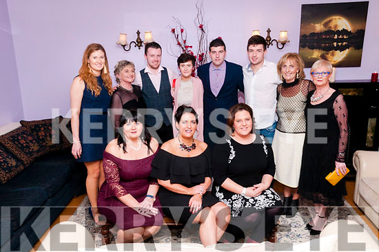 Beale GAA Social :  Mairead O'Sullivan, Sinead Vaughan & Andrea Musilova in front & Danielle O'Riordan, Brid Griffin, Shane Hanrahan, Shona McGlynn, Stephen Galvin, Stephen Linnane, Helen O'Connell & Marian Dee pictured at the  Beale GAA club's annual social at Kilcooley's Country House, Ballybunion on Saturday night last.