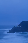 Heceta Head Lighthouse at Devils Elbow State Park, Oregon coast, USA.  .#2308-0719