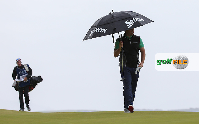 Ricardo Gouveia (POR) approaching the 12th during Round Three of the 2016 Aberdeen Asset Management Scottish Open, played at Castle Stuart Golf Club, Inverness, Scotland. 09/07/2016. Picture: David Lloyd   Golffile.<br /> <br /> All photos usage must carry mandatory copyright credit (&copy; Golffile   David Lloyd)