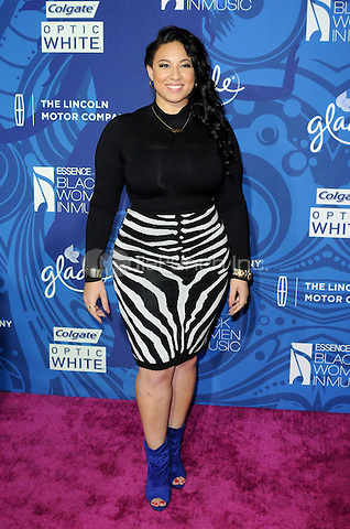 HOLLYWOOD, CA -  FEBRUARY 5: Melanie Amaro arrives at the 6th Annual Essence Black Women in Music event at Avalon Hollywood on February 5, 2015 in Hollywood, California.  Credit: PGAJ/MediaPunch