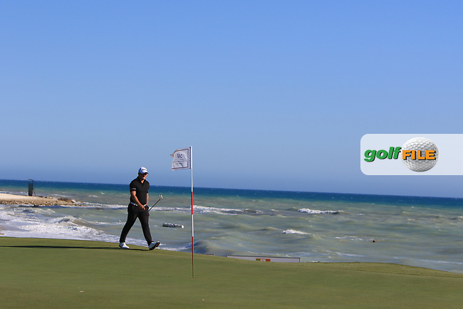 Zander Lombard (RSA) on the 15th green during Round 3 of The Rocco Forte Open  at Verdura Golf Club on Saturday 20th May 2017.<br /> Photo: Golffile / Thos Caffrey.<br /> <br /> All photo usage must carry mandatory copyright credit     (&copy; Golffile | Thos Caffrey)