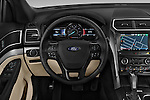 Car pictures of steering wheel view of a 2016 Ford Explorer XLT 4 Door SUV Steering Wheel