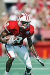 University of Wisconsin wide receiver Jonathon Orr (9) during the  West Virginia game at Camp Randall Stadium in Madison, WI, on 9/7/02. The Badgers beat West Virginia 34-17.  (Photo by David Stluka)