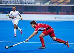 BHUBANESWAR (INDIA) - Arthur van Doren (Belgie)   tijdens Belgie-Pakistan bij het WK Hockey heren.   COPYRIGHT KOEN SUYK