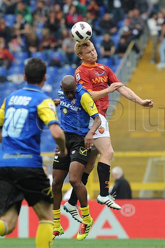 23 04 2011  John Arne Riise Roma  Fernandes Chievo Roma versus Chievo.  Series A Stadio Olimpico Rome, Italy.