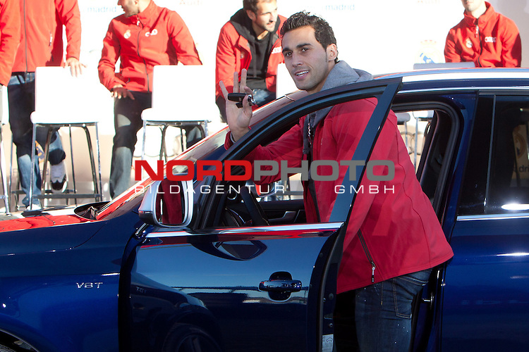 Arbeloa participates and receives new Audi during the presentation of Real Madrid's new cars made by Audi at  Hipodromo de la Zarzuela in Madrid. November 28, 2013. Foto © nph / Caro Marin)