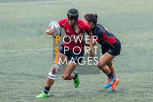 Poon Ka Yan of Lions (L) in action during the Women's National Super Series 2017 on 13 May 2017, in Hong Kong Football Club, Hong Kong, China. Photo by Marcio Rodrigo Machado / Power Sport Images