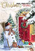 John, CHRISTMAS LANDSCAPES, WEIHNACHTEN WINTERLANDSCHAFTEN, NAVIDAD PAISAJES DE INVIERNO, paintings+++++,GBHSFBHX-001A-06,#xl# ,snowman,