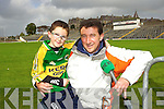 Pascal Sheehy RTE Originally from Tralee with his son Aaron at the Kerry Senior Football Team Media day at Fitzgerald Stadium on Saturday.