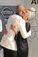 LOS ANGELES, CA - JUNE 26: Swizz Beatz and Alicia Keys at the 2016 BET Awards at the Microsoft Theater on June 26, 2016 in Los Angeles, California. Credit: David Edwards/MediaPunch