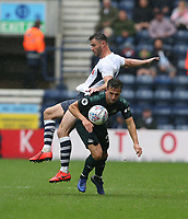 Preston North End's Andrew Hughes and Newcastle United's Karl Darlow<br /> <br /> Photographer Stephen White/CameraSport<br /> <br /> Football Pre-Season Friendly - Preston North End v Newcastle United - Saturday July 27th 2019 - Deepdale Stadium - Preston<br /> <br /> World Copyright © 2019 CameraSport. All rights reserved. 43 Linden Ave. Countesthorpe. Leicester. England. LE8 5PG - Tel: +44 (0) 116 277 4147 - admin@camerasport.com - www.camerasport.com