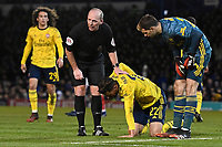 Injury concern for Pablo Mari of Arsenal during Portsmouth vs Arsenal, Emirates FA Cup Football at Fratton Park on 2nd March 2020
