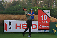 Chris Wood (ENG) in action on the 10th during Round 2 of the Hero Indian Open at the DLF Golf and Country Club on Friday 9th March 2018.<br /> Picture:  Thos Caffrey / www.golffile.ie<br /> <br /> All photo usage must carry mandatory copyright credit (&copy; Golffile | Thos Caffrey)