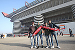 Fans hold up scarves with the slogan IZ back with reference to the return of Zlatan Ibrahimovic before the Serie A match at Giuseppe Meazza, Milan. Picture date: 6th January 2020. Picture credit should read: Jonathan Moscrop/Sportimage
