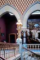 Frank Furness: Pennsylvania Academy of Fine Arts, 1872-76. Interior.  Photo '78.