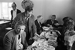 Laxton Jury Day and Court Leet. Laxton Nottinghamshire. England 1973.   Traditional Farmers Dinner in the Dovecote Inn   <br />