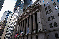 US, New York City. The New York Stock Exchange on Wall Street.