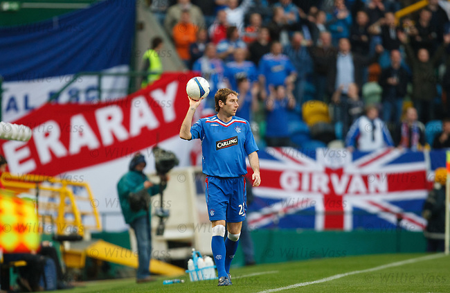Kirk Broadfoot looks around the Estadio Jose Alavalade XXI during the Europa League match in Lisbon in 2008