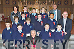 Castleisland Boys NS who were confirmed by Bishop Bill Murphy in St Stephen and John's church on Tuesday front row l-r: David Kurbowski, Bradley O'Brien, Stephen Kerins, Dominic Prenderville. Middle row: Padraig O'Connell, Paul Walsh, Kevin Mahony, Mikey Broderick, John Bobby Bobiles, Fr Michael Moynihan. Back row: Marina O'Connor (Deputy Principal), Patrick Horan, Noel Begley, Damian Feehan and Denis Griffin (Principal).
