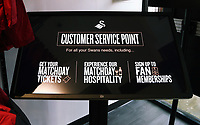 The new interactive screen Swansea City FC shop opening in Union Street, Swansea, Wales, UK. Saturday 07 October 2017