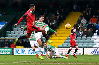Correction: Wes Thomas of Grimsby Town left scores the second goal during Yeovil Town vs Grimsby Town, Sky Bet EFL League 2 Football at Huish Park on 9th February 2019