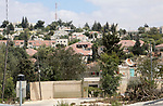 A picture taken on August 27, 2018 shows a general view of the Jewish settlement of Beit El near the West Bank city of Ramallah. Israeli goverment approved a project to construct hundreds of new illegal Israeli settlement units in the heart of the Palestinian neighborhood of Beit Hanina, in occupied East Jerusalem, was reported to commence early next month. The illegal settlements are seen as a major obstacle to peace talks between Israel and Palestine. The Israeli settlements in occupied Palestinian territories are also regarded illegal by the international community. Photo by Shadi Hatem