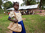 Patients waiting outside for treatment in MSF hospital in Bossangoa, Central African Republic