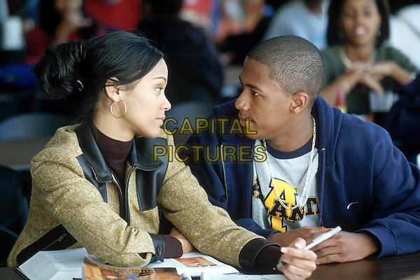 NICK CANNON & ZOE SALDANA.in Drumline.Ref: FB.*Editorial Use Only*.www.capitalpictures.com.sales@capitalpictures.com.Supplied by Capital Pictures.