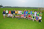 Trainer John Meyler of the Kilmoyley Hurling team in traing on Thursday evening before their big match . Front l-r: John Meyler, Sean Curran, Emmet Meehan,Tadhg Diggins, Brendan Harris, Eoin McCarthy, Sean Dowling,Daniel Collins, Paudie O'Connor, Sean Nolan, Dougie Fitzell, Seanie Murnane (Capt), Joe McElligott, Jordan Brick and Joe Walsh (Chairam ack l-r: Sean Maunsell, Mark Lynch, Tom Murnane, Flor McCarthy, James McCarthy, Sean Godley, Tommy Maunsell, Robert Collins,John Paul O'Mahony, Conor Fitzell, Mike Lawlor (selector), Ian Brick, Ollie Duggan (Secector), Micheál Regan, Maurice Murnane, Aiden McCabe, Colman Savage, Luke Fitzell and Vincent Savage.