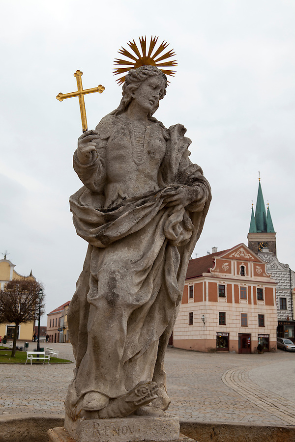 Religious sculpture in Slavonice, Czech Republic, Europe