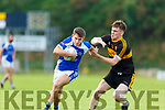 Billy Courtney Dr Crokes challenges John Ferguson Kerins O'Rahillys  during the County league clash in Killarney on Saturday