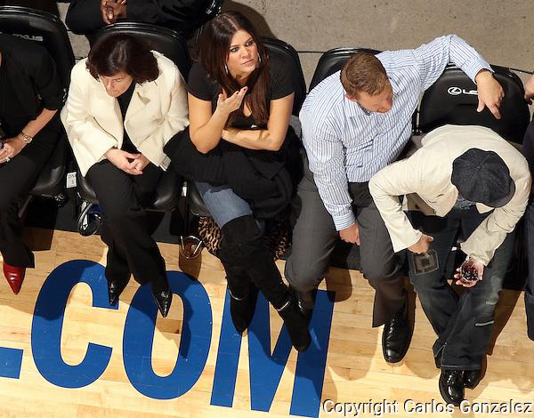 Khloe Kardashian attended the Minnesota Timberwolves home opener vs. The Sacramento Kings at the Target Center in Minneapolis, MN on Wednesday October 29, 2008.