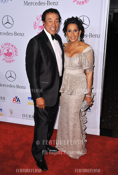 Smokey Robinson & wife Frances Robinson at the 26th Carousel of Hope Gala at the Beverly Hilton Hotel..October 20, 2012  Beverly Hills, CA.Picture: Paul Smith / Featureflash