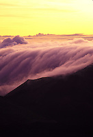 Cloud cover at Haleakala national park at sunrise