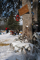 View of Ophir Checkpoint and Sign AK 2004 Iditarod