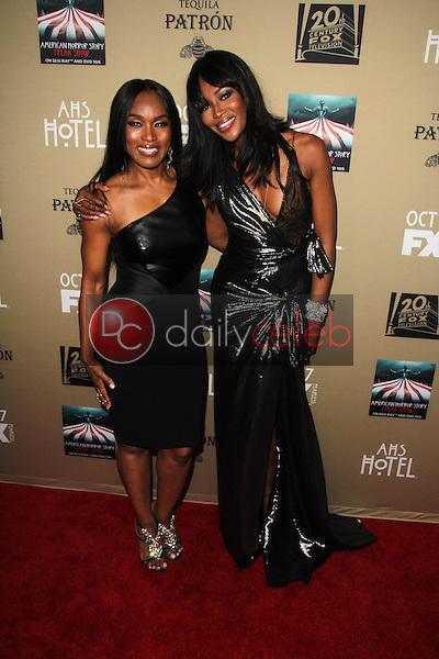 Angela Bassett, Naomi Campbell<br /> at the &quot;American Horror Story Hotel&quot; Premiere Screening, Regal Cinemas, Los Angeles, CA 10-03-15<br /> David Edwards/Dailyceleb.com 818-249-4998
