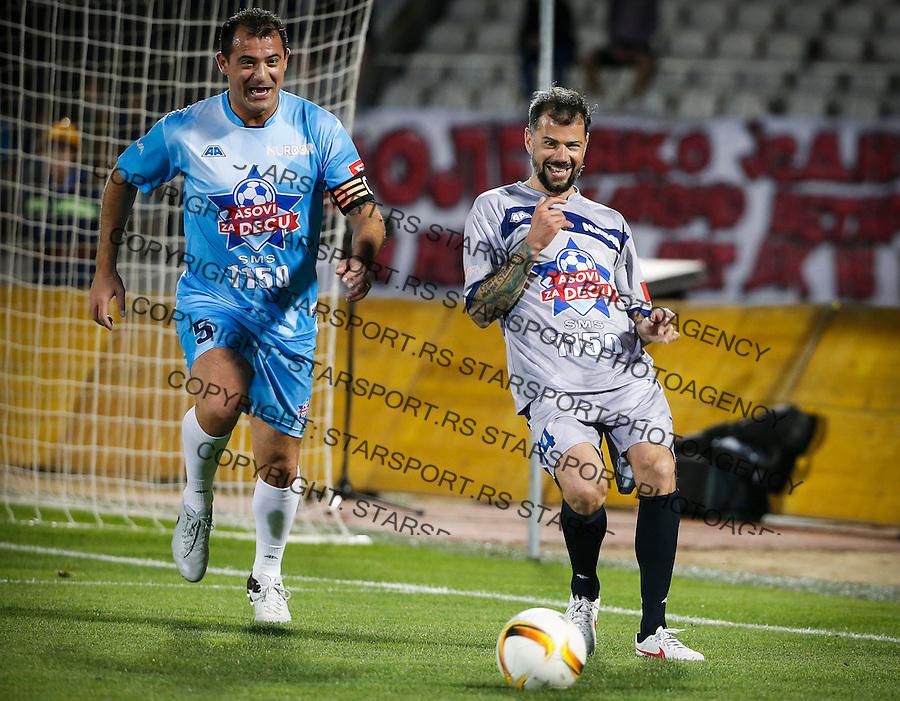 Humanitarni Fudbalski Mec<br /> Beograd, 24.05.2016<br /> Dejan Stankovic (L) and Mateja Kezman<br /> foto: Srdjan Stevanovic/Starsportphoto &copy;