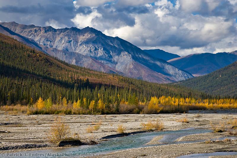 Dietrich river, Brooks range mountains, Alaska.