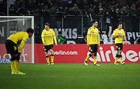 FUSSBALL   1. BUNDESLIGA   SAISON 2011/2012    15. SPIELTAG Borussia Moenchengladbach - Borussia Dortmund        03.12.2011 Enttaeuschte Dortmunder nach dem 1:1: Mario GOETZE, Lukasz PISZCZEK und Ilkay GUENDOGAN (v.l.)
