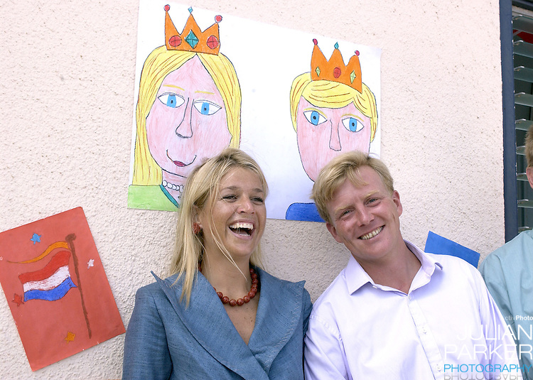Crown Prince Willem Alexander, and Crown Princess Maxima of Holland visit The Dutch Antilles..Visit the Island of Aruba..The Royal Couples program included, a visit to The Dutch Marine Base, an Elementary School, The YMCA, and watched a cultural presentation..