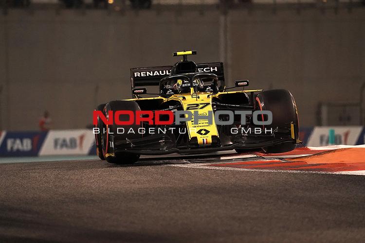 30.11.2019, Yas Marina Circuit, Abu Dhabi, FORMULA 1 ETIHAD AIRWAYS ABU DHABI GRAND PRIX 2019<br />, im Bild<br />Nico Hülkenberg (GER#27), Renault F1 Team<br /> <br /> Foto © nordphoto / Bratic