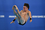 Kazuki Murakami (JPN), <br /> SEPTEMBER 1, 2018 - Diving : Men's 10m Platform Preliminary at Gelora Bung Karno Aquatic Center during the 2018 Jakarta Palembang Asian Games in Jakarta, Indonesia. <br /> (Photo by MATSUO.K/AFLO SPORT)