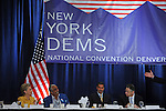(L-r) Senator Hilary Clinton, Congressman Charles Rangel, New York Governor David Paterson, and Speaker of the New York Assembly Sheldon Silver at a breakfast for New York delegates at the start of the Democratic National Convention at the Sheraton Hotel in Denver, Colorado on August 25, 2008.