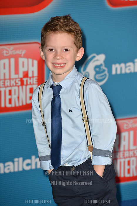 LOS ANGELES, CA. November 05, 2018: Gavin Thomas at the world premiere of &quot;Ralph Breaks The Internet&quot; at the El Capitan Theatre.<br /> Picture: Paul Smith/Featureflash