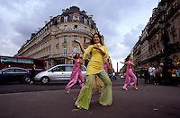 Actress Kareena Kapoor at Place de l'Opera in Paris France, for the shooting of the Bollywood film ''Live only for you''