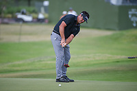 Eric Axley (USA) watches his putt on 18 during round 3 of the AT&amp;T Byron Nelson, Trinity Forest Golf Club, at Dallas, Texas, USA. 5/19/2018.<br /> Picture: Golffile | Ken Murray<br /> <br /> <br /> All photo usage must carry mandatory copyright credit (&copy; Golffile | Ken Murray)