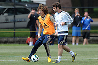 Prior to playing Manchester City in a friendly game at Busch Stadium, home of the St Louis Cardinals baseball team, Chelsea held a closed practice at Robert R Hermann Stadium on the campus of Saint Louis University..David Luiz.
